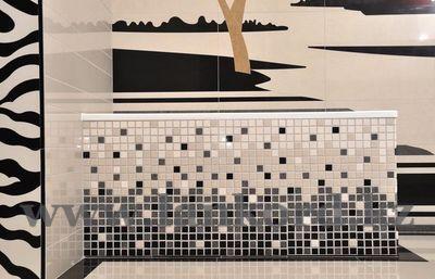 Декор мозаика в ванной