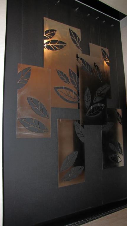 Панно из металла. Частная квартира г.Астана